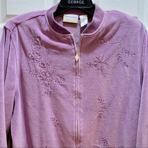 Sz 18W Alfred Dunner Woman Lilac Velour Jacket 🧥